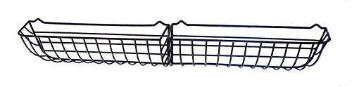 72'' Sectional Wrought Iron Window Hayrack coated in black PVC by Garden Artisans