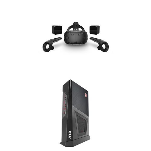 HTC-VIVE-Virtual-Reality-System-MSI-Trident-3-Gaming-Desktop-i5-7400-GTX-1060-8GB-RAM-1TB-HDD-Bundle