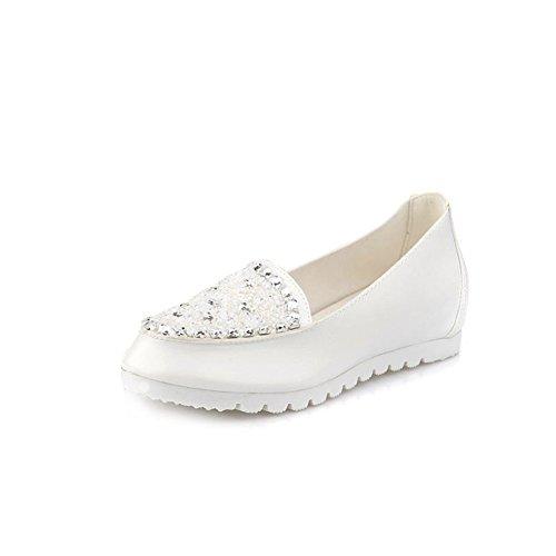 Mayor primavera, zapatos planos de diamantes de imitación/Zapatos ocasionales de luz A