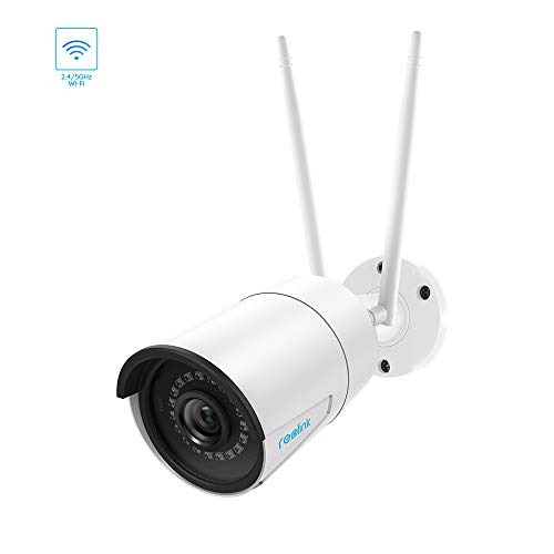 REOLINK 4MP Outdoor Security Camera, Dual Band 2.4/5GHz WiFi IP Camera for Home Surveillance, 1440P Super HD Night Vision, IP66 Waterproof, Motion Detection, Supports Audio, RLC-410W