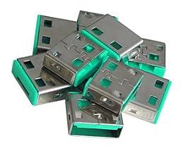 Lindy USB Port Blocker - Pack of 10 - Green 40461