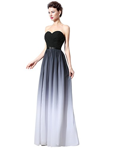 Clearbridal Abendkleid UK14 Damen Brautjungfer Maxikleid Farbverlauf Chiffon Formale SD313 Kleid Bandage PqOtwPfr