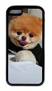 Boo the Dog Eating Food DIY Rubber Black iphone 5C Case Perfect By Custom Service