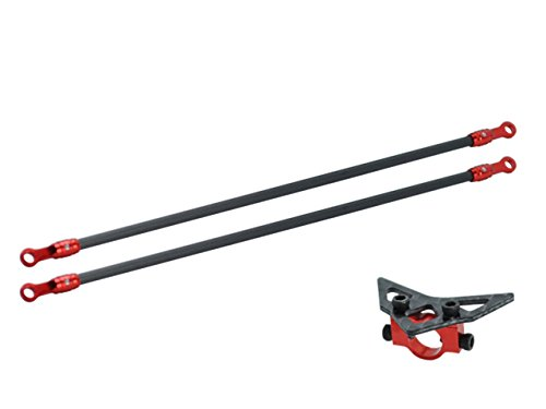 arbon Fiber Tail Boom Support Mount set (RED) (for MH Main Frame series) ()
