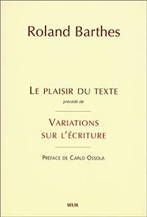 Le degré zéro de l'écriture par Barthes