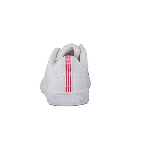 adidas Vs Advantage Cl K, Zapatillas DeDeporte Unisex Niños Blanco (Ftwbla/Ftwbla/Supros)