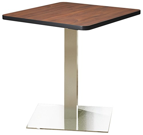 Mayline Bistro Series Square Dining Height Table with Stainless Steel Base, Mayline Bistro Tables