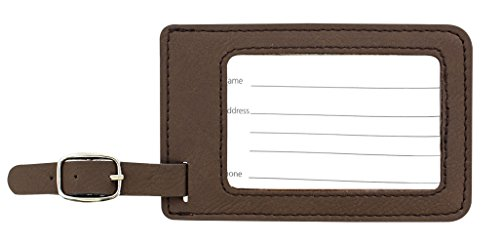 Personalized Couples Gifts Custom Names & Date Infinite Love Personalized Engagement Gifts for Honeymoon 2-pack Laser Engraved Leather Luggage Tags Brown by Personalized Gifts (Image #4)