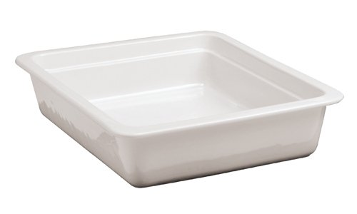 Paderno World Cuisine Induction Porcelain Hotel Pan, 1/2 Hotel Pan Size