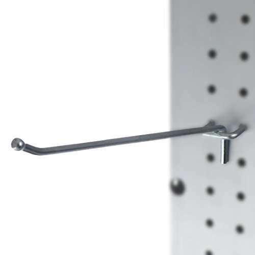 Presa 409-50 Heavy Duty Metal Peg Board Shelving Hooks, 8-Inch, ()