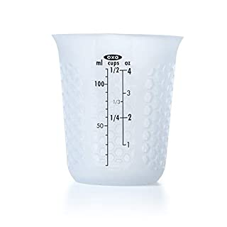 OXO Good Grips Mini Squeeze & Pour Silicone Measuring Cup with Stay-Cool Pattern