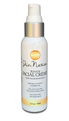 Renew Face Cream Daily Moisturizer 100% Natural + Organic Coconut & Jojoba Oil, Dermatologist Recommend Peptides as Best Anti-Aging Lotion to Reduce Wrinkles + Fine Lines! By Michelle Stafford
