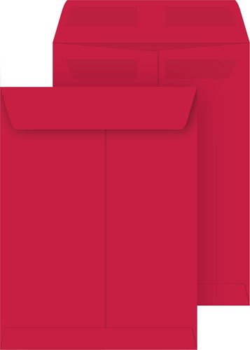 Red 9x12 Catalog Envelopes, Press & Seal, 50-pack (Business Red Envelopes)