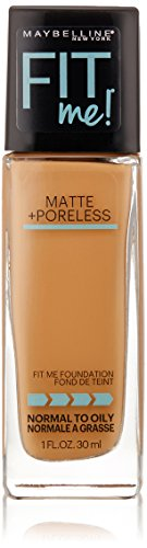 Maybelline New York Fit Me Matte + Poreless Foundation, 330 Toffee, 1 fl. oz. - Maybelline Fit Me 330
