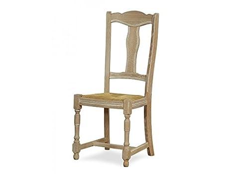 Bp sedie sedia rovere massello sedile paglia tinta