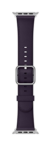 Apple 38mm Classic Buckle Smartwatch Replacement Band for Watch Series 1, Watch Series 2, Watch Series 3 - Dark Aubergine by Apple