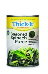 Thick-It Puree: Seasoned Spinach, Size:(1 case: 12 x 15 oz. cans)