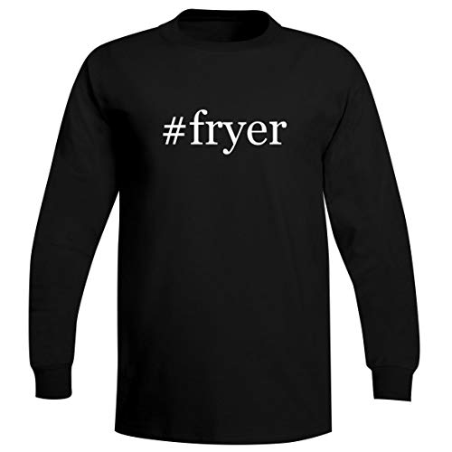 The Town Butler #Fryer - A Soft & Comfortable Hashtag Men's Long Sleeve T-Shirt, Black, XX-Large