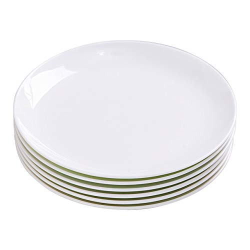TGLBT 10-Inch Porcelain Dinner Plates Set/Serving Platters,salad service,White, 6-Piece (Set Inch Dinner Plate 10)
