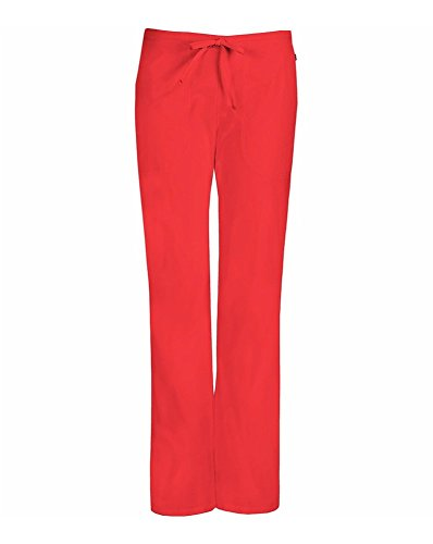 Code Happy Mid-Rise Drawstring Pant w/Antimicrobial' Scrub Bottoms Coral Reef Small