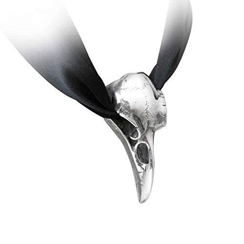 Alchemy Gothic Anhänger Halsband Raben Schädel Raven Corvus Corax Batcave P736