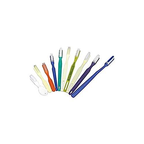 Dukal DUK TB52 Dawnmist Toothbrush, 52 Tuft, Blue Handle, Blue & White Nylon Bristles, Soft & Rounded (Pack of 1440)