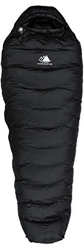 Hyke & Byke Down Sleeping Bag for Backpacking – Snowmass 0 Degree F Ultralight, Ultra Compact Down Filled 4 Season Men's and Women's Lightweight Mummy Bags