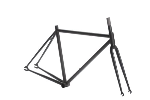 Pure Fix Fixed Gear Track Bike Frame Set, 58cm/Large, Matte Black