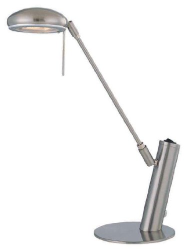 Lite Source LS-21185PS Halo Desk Lamp with Polished Steel Metal Shade, Polished Steel