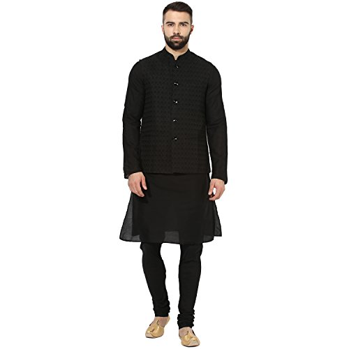 KISAH Men's Indian Cotton Silk Kurta and Churidar with for sale  Delivered anywhere in USA