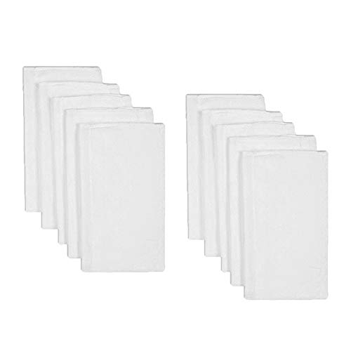 B-caton Birdseye 3-Ply Prefold Absorbent Cloth Diapers Covers Burp Cloth, White,(10 Pcs, 18.9