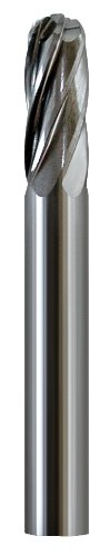 (Shark Shark BT57 1.75-Inch Ball Nosed Carbide Bur, Aluma-Cut, 0.25-Inch Diameter, 0.625-Inch Flute, Made In The US)