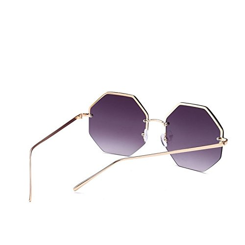 Gray Sol Viajes Enormes De Violeta TIANLIANG04 Sin De Oro De Lujo C7 Señoras Grandes De Sombras Mujer C1 Unas Gold Uv400 Octagon Sol Reborde Gafas Gafas EqwxxXIO4