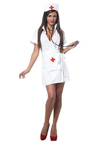 California Costumes Women's Fashion Nurse White Costume, White, (Nurse And Doctor Costumes)