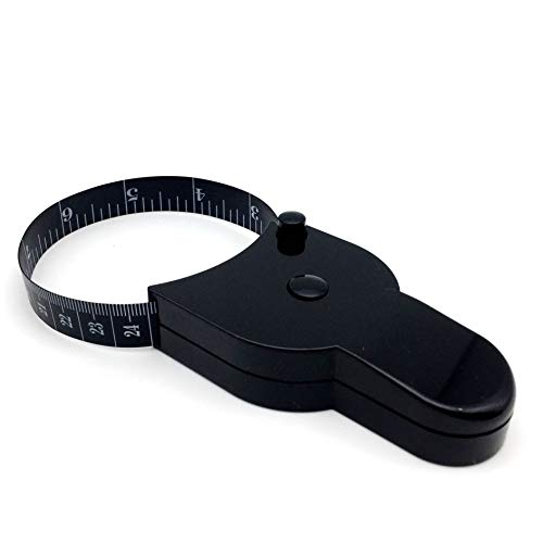 Tape Measure Body Measuring Tape for Body Fat Measurements Retractable 60 Inch 150 cm Black