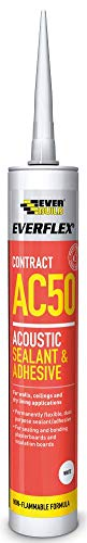 Everbuild AC50C4 Acoustic Sealant and Adhesive - White
