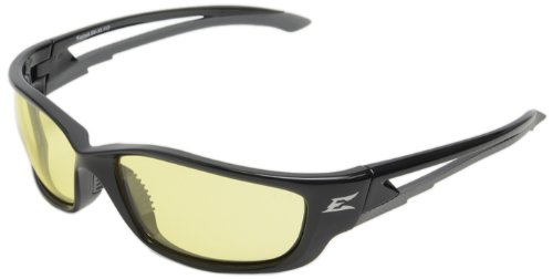 Edge Eyewear SK-XL112 Kazbek XL Safety Glasses, Black with Yellow Lens