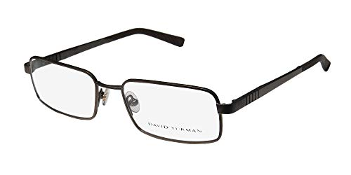 David Yurman 619 For Men Rectangular Full-Rim Shape Highest Quality Modern Made In Japan Eyeglasses/Glasses (55-18-140, ()