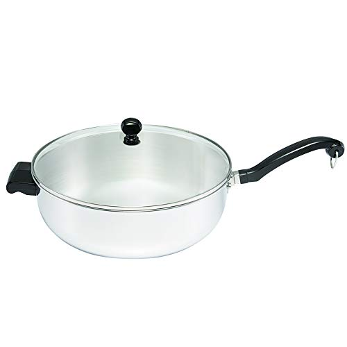 Farberware 70097 Classic Series Stainless Steel Jumbo Covered Chef's Pan, 6-Quart, Medium,