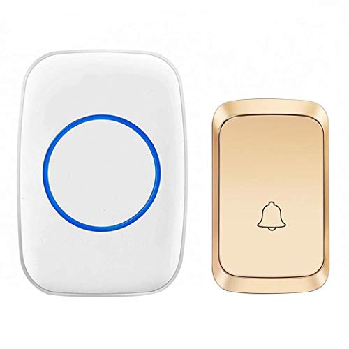 - Whatyiu Smart Home Intelligent Security Smart Wireless Doorbell 58 Songs Optional 300M Distance Waterproof US Plug-Gold