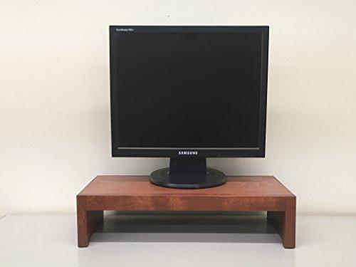 Pedestal Pecan (TV/Monitor Riser Stand Modern Alder (Pecan, 38