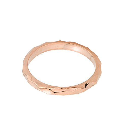 Solid 10k Rose Gold Spike Band Baby Ring