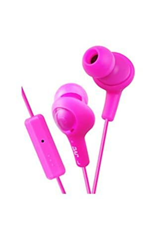 Jvc Hafr6p Gummy Plus In-Ear Headphones With Remote & Mic (Pink) (Gummy Headphones Jvc Pink)