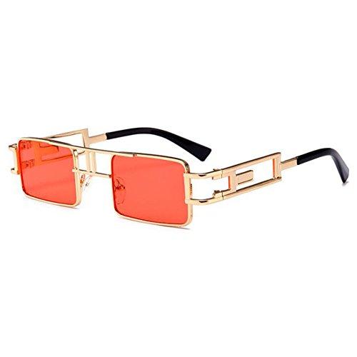 Retro UV400 C4 en de Mens femmes Steampunk lunettes carré de lunettes MEIHAOWEI en Monture soleil soleil métal FqTxR