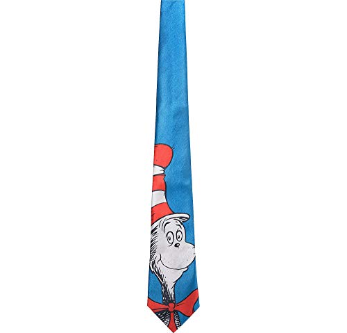 Costumes USA Cat in the Hat Tie for Adults, Dr. Seuss Costume Accessories, One Size Fits Most ()