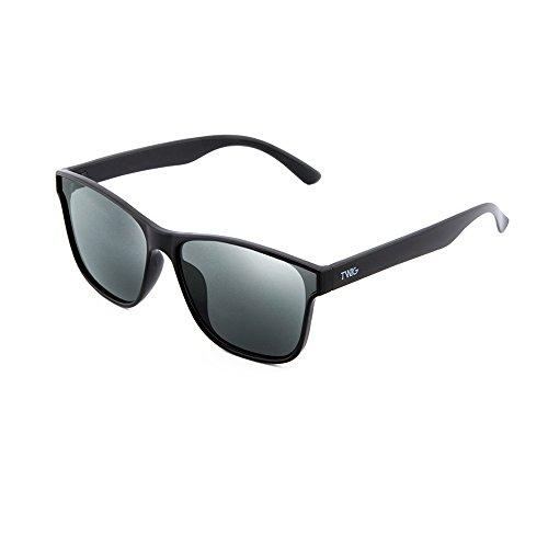 Gafas hombre mujer espejo de Negro degradadas TWIG BRETON Plata sol BTwBrO