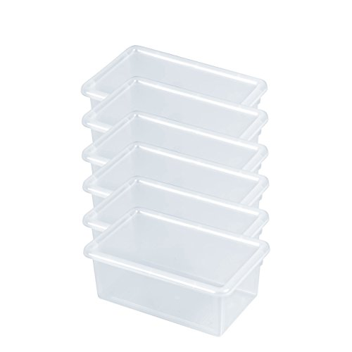 - ECR4Kids Stack and Store Tubs with Lids, Clear (6-Pack)