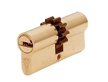 Mul-T-Lock CLASSIC 064C Cilindro de Alta Seguridad Perfil Europeo Doble, Piñón de 10 Dientes, 5 Llaves y Tarjeta de Identificación Latón: Amazon.es: ...