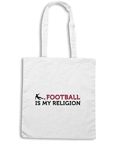 T-Shirtshock - Bolsa para la compra WC0348 Football - It s my Religion Blanco