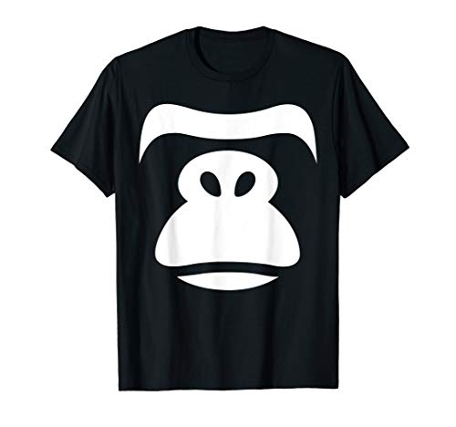 - Funny Gorilla Face Costume Halloween T-shirt